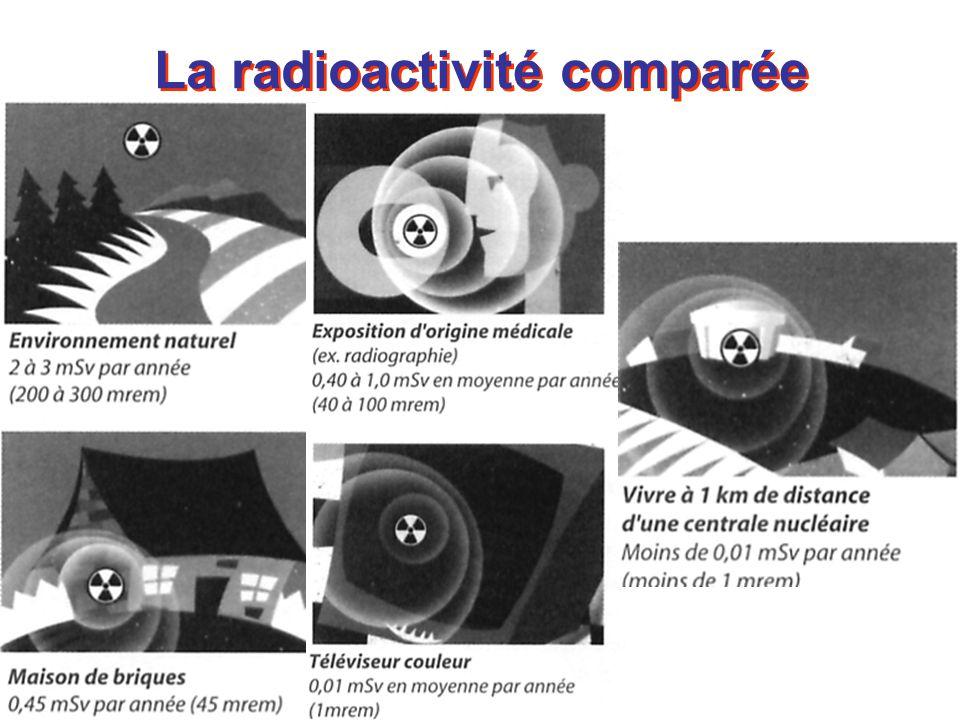 La radioactivité comparée