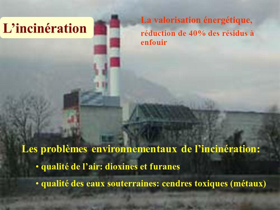 L'incinération Les problèmes environnementaux de l'incinération: