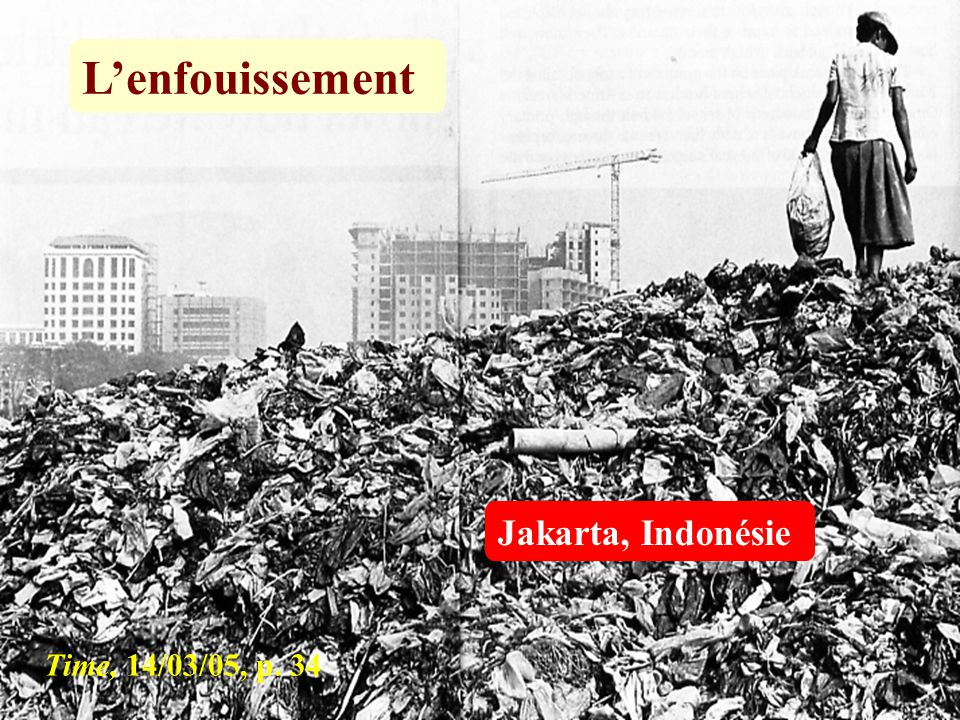 L'enfouissement Jakarta, Indonésie Time, 14/03/05, p. 34