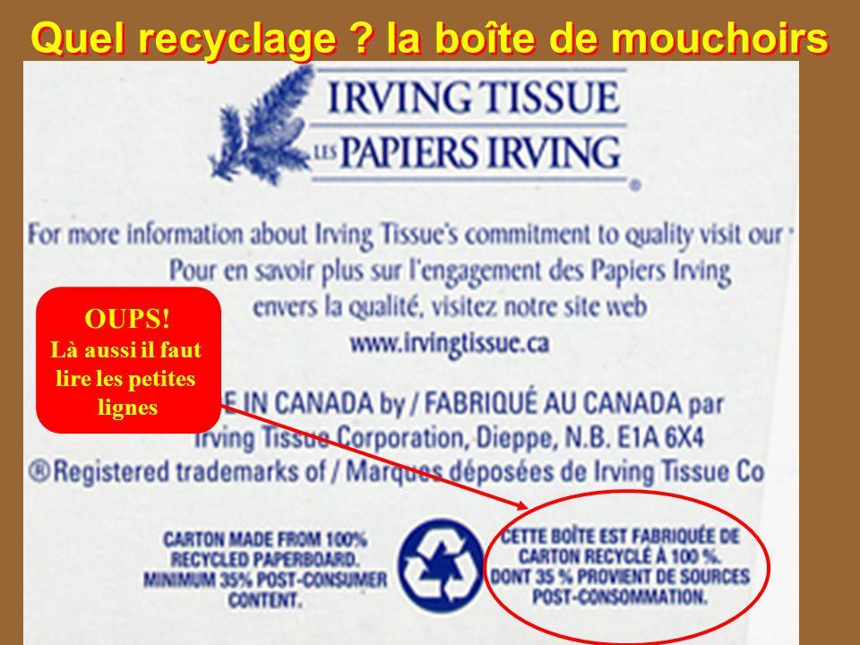 Quel recyclage la boîte de mouchoirs