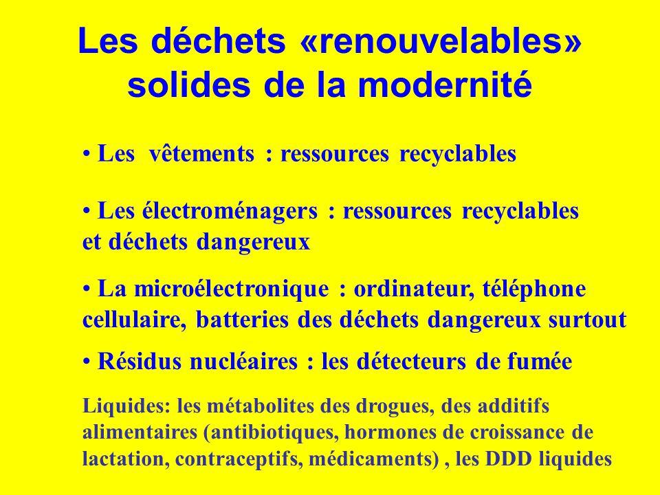 Les déchets «renouvelables» solides de la modernité