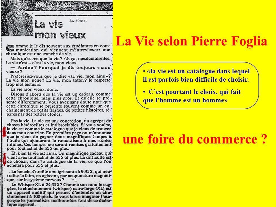 La Vie selon Pierre Foglia