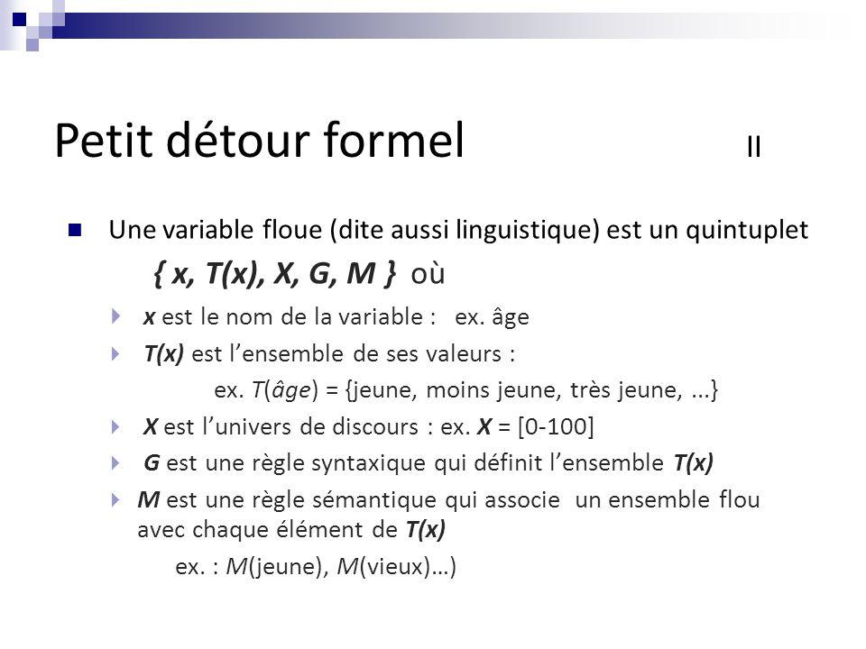 Petit détour formel II { x, T(x), X, G, M } où
