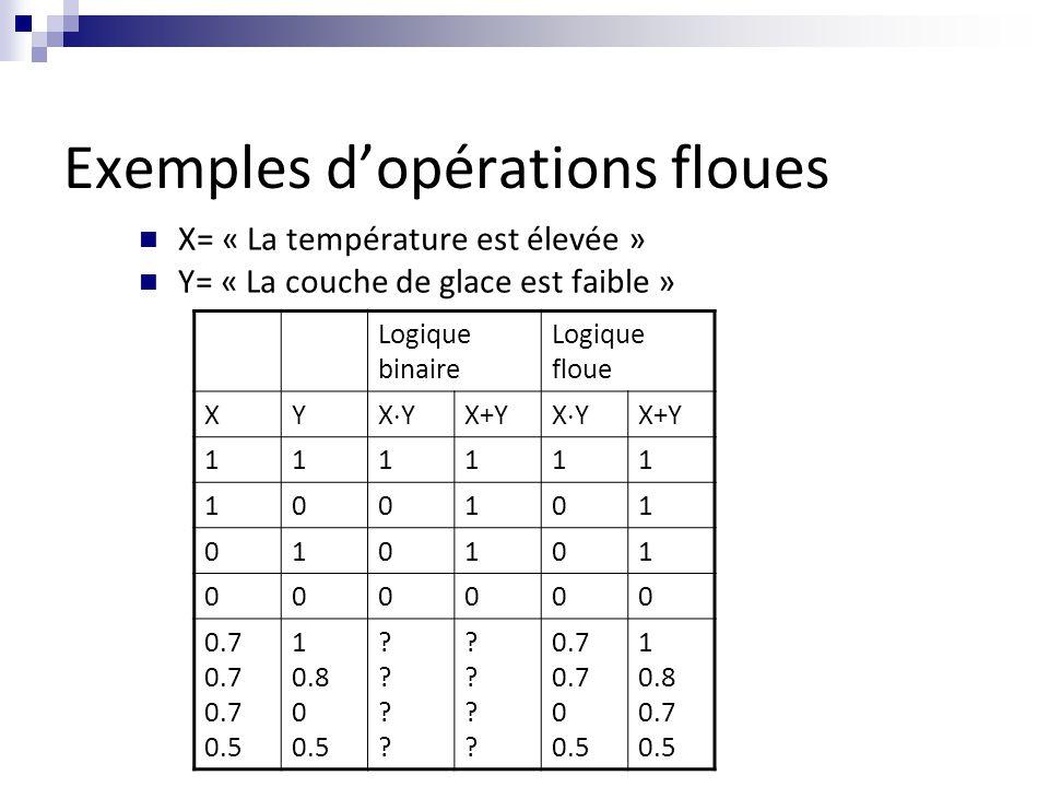 Exemples d'opérations floues