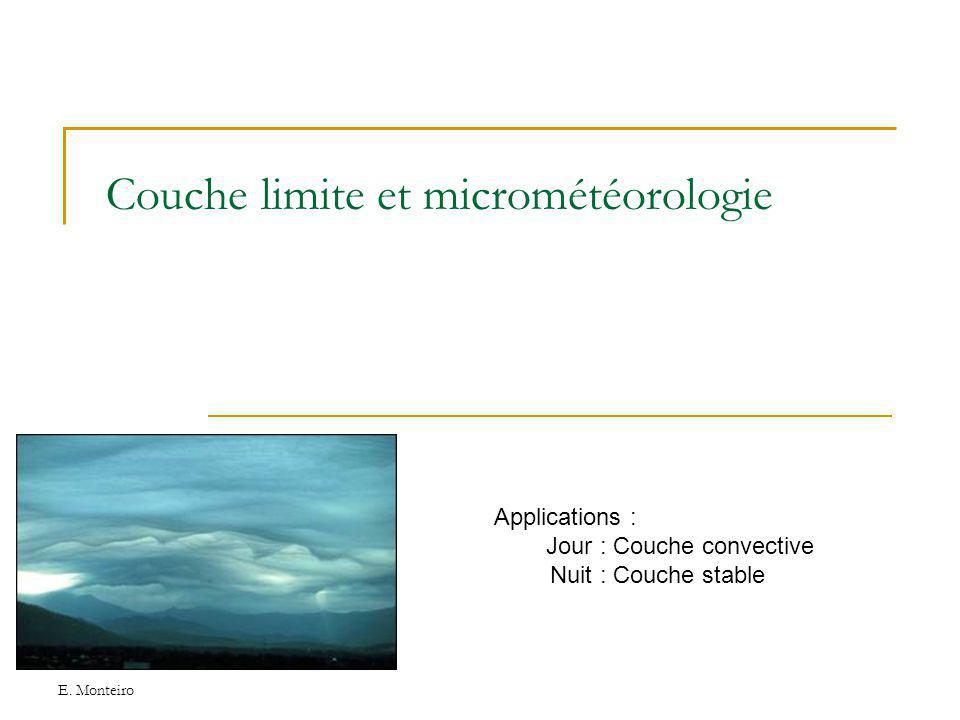 Couche limite et micrométéorologie