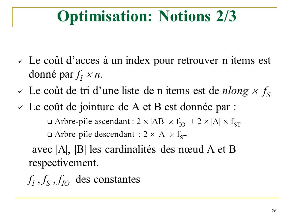 Optimisation: Notions 2/3