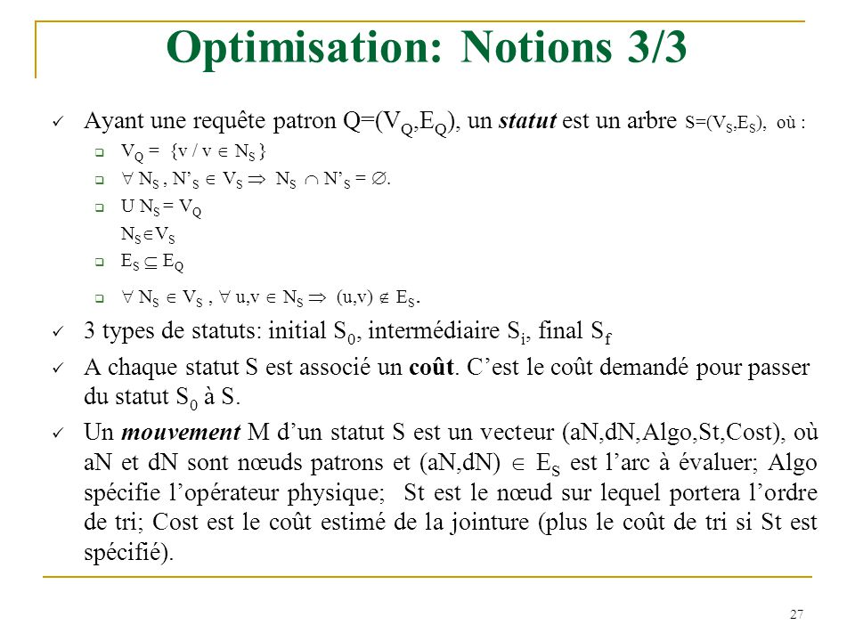 Optimisation: Notions 3/3