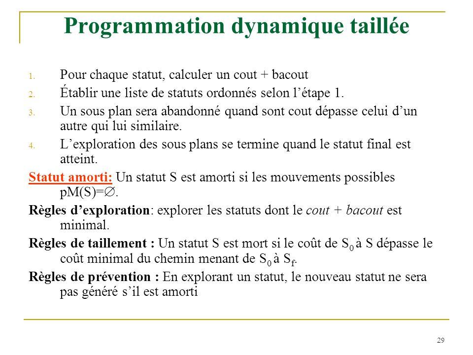 Programmation dynamique taillée