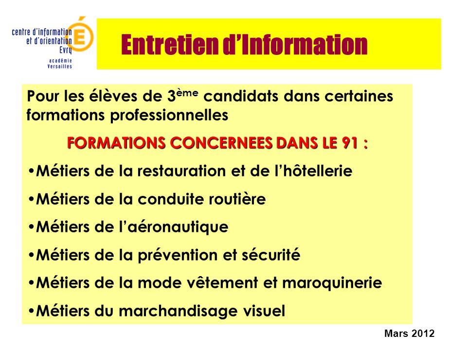Entretien d'Information