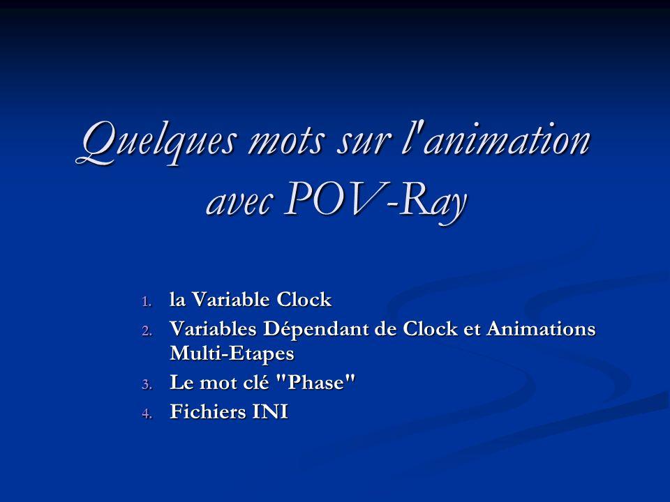 Quelques mots sur l animation avec POV-Ray