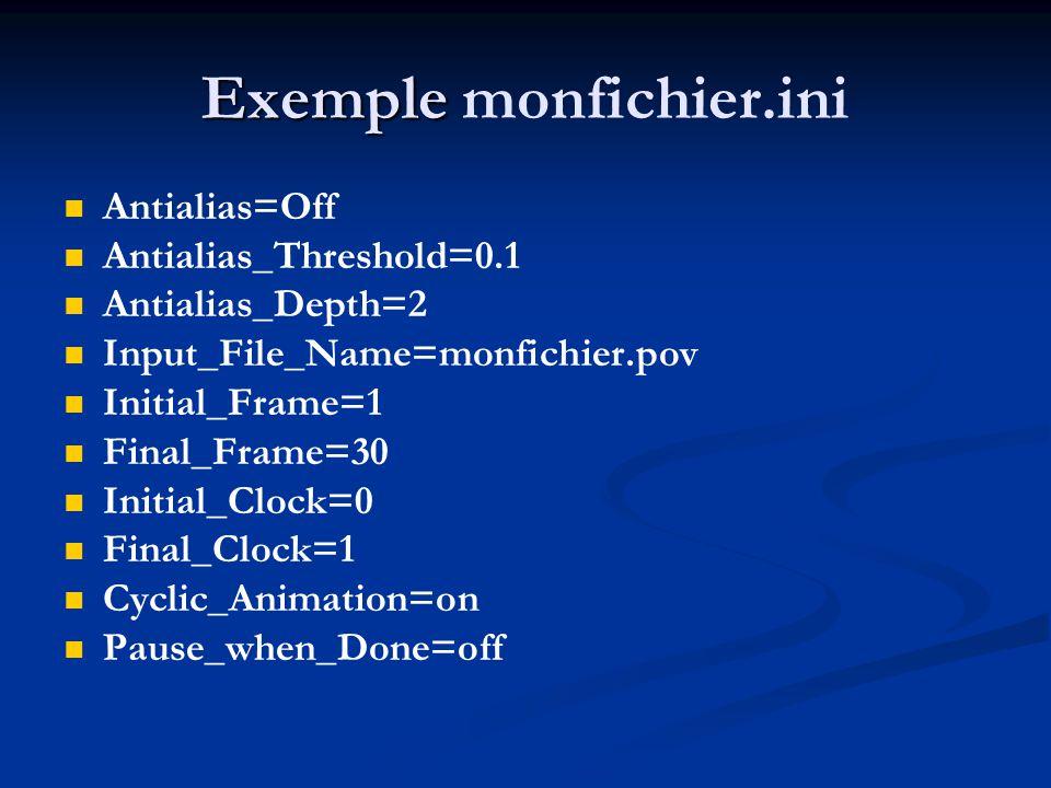 Exemple monfichier.ini