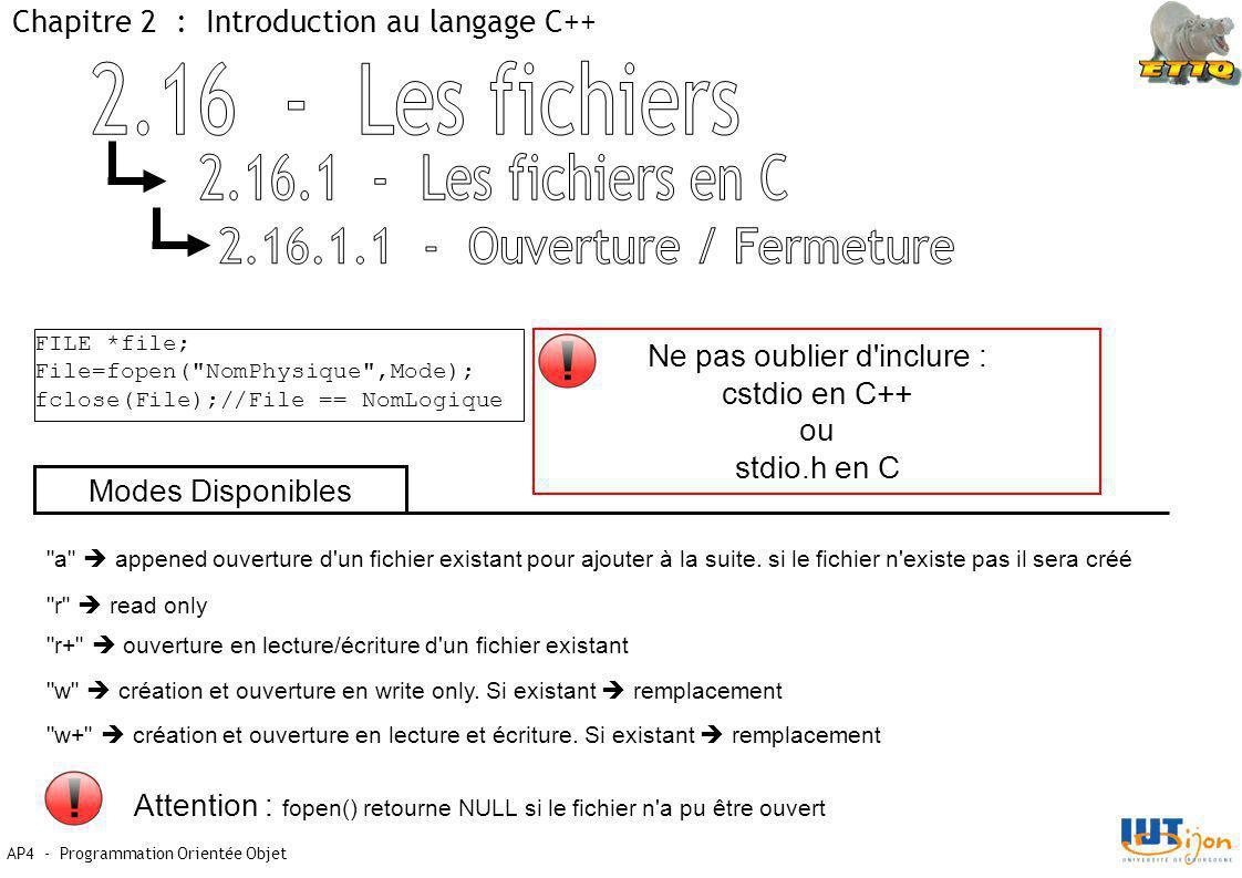 2.16.1.1 - Ouverture / Fermeture
