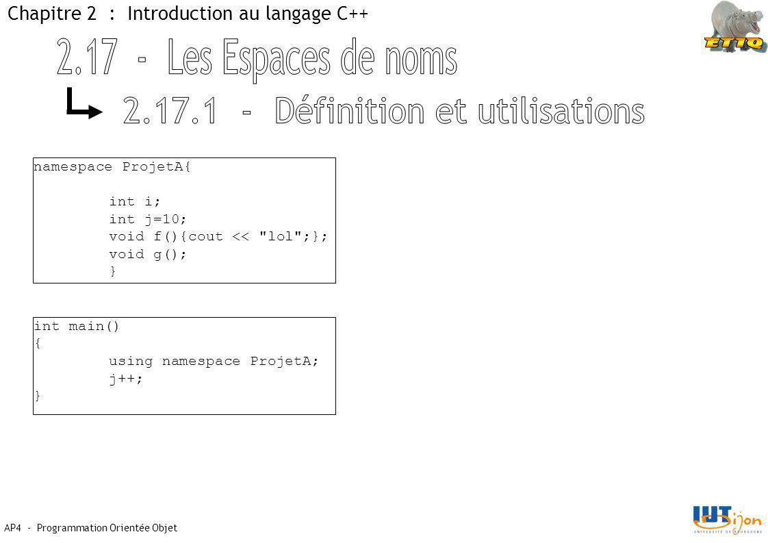 2.17.1 - Définition et utilisations