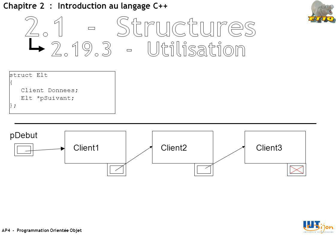 2.1 - Structures 2.19.3 - Utilisation