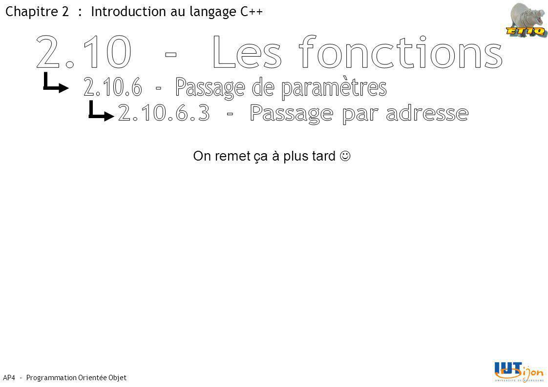 2.10.6 - Passage de paramètres