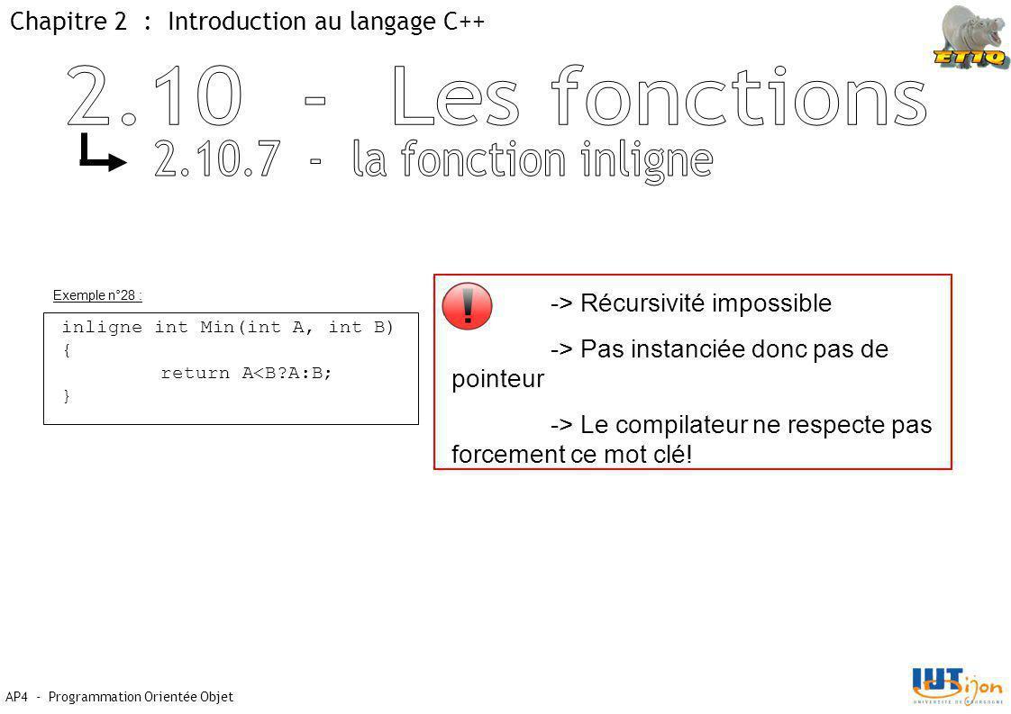 2.10 - Les fonctions 2.10.7 - la fonction inligne