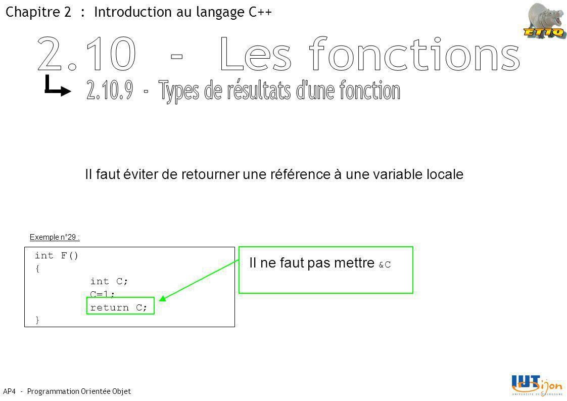 2.10.9 - Types de résultats d une fonction
