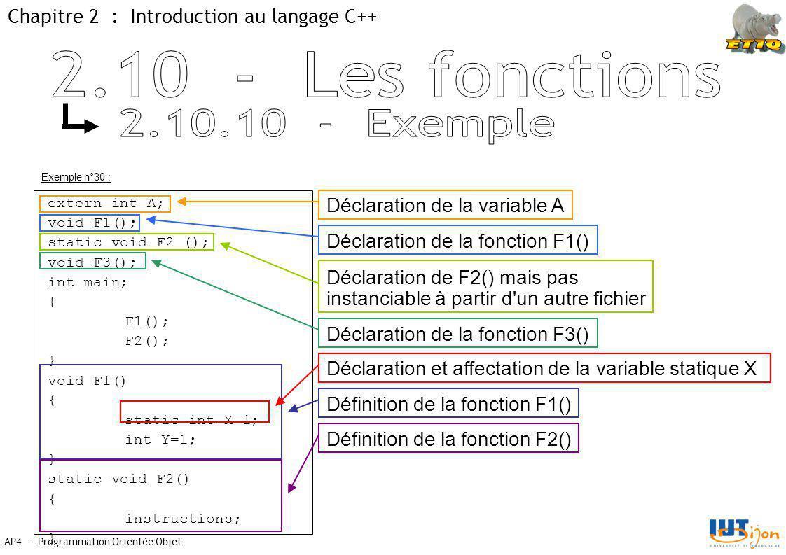 2.10 - Les fonctions 2.10.10 - Exemple