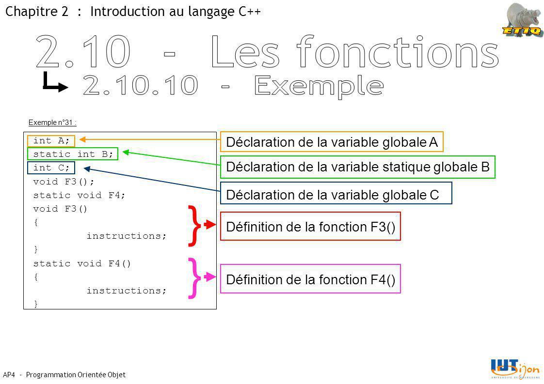 } } 2.10 - Les fonctions 2.10.10 - Exemple