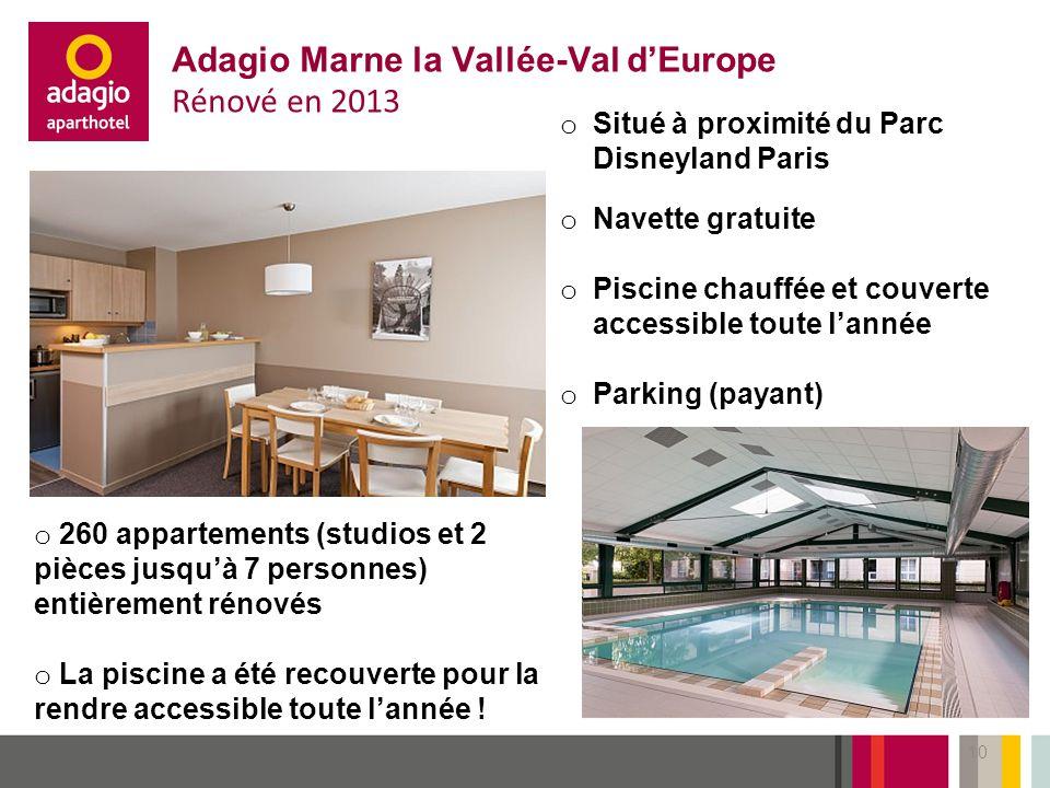 Adagio Marne la Vallée-Val d'Europe Rénové en 2013