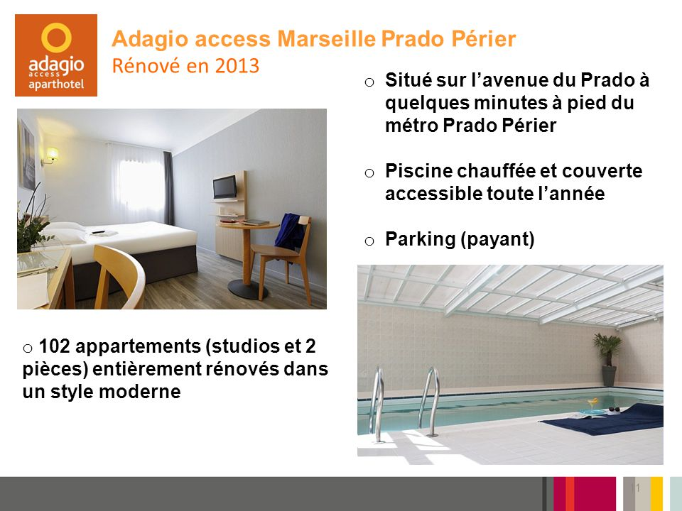 Adagio access Marseille Prado Périer Rénové en 2013
