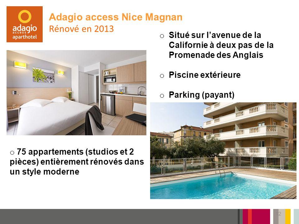 Adagio access Nice Magnan Rénové en 2013