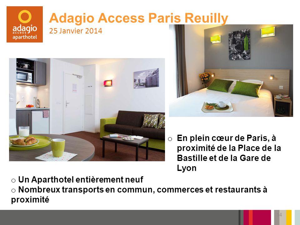 Adagio Access Paris Reuilly 25 Janvier 2014
