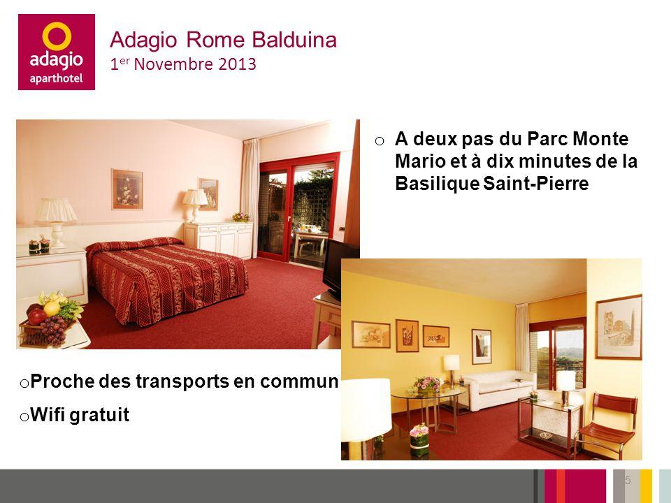 Adagio Rome Balduina 1er Novembre 2013