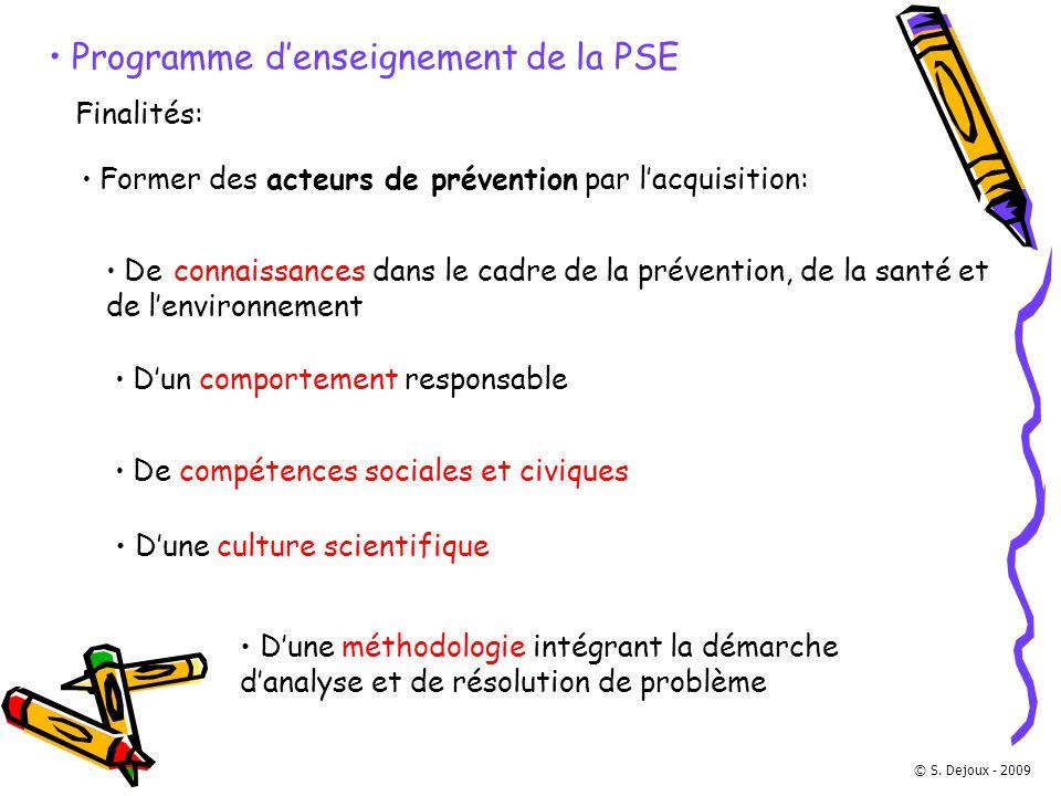 Programme d'enseignement de la PSE