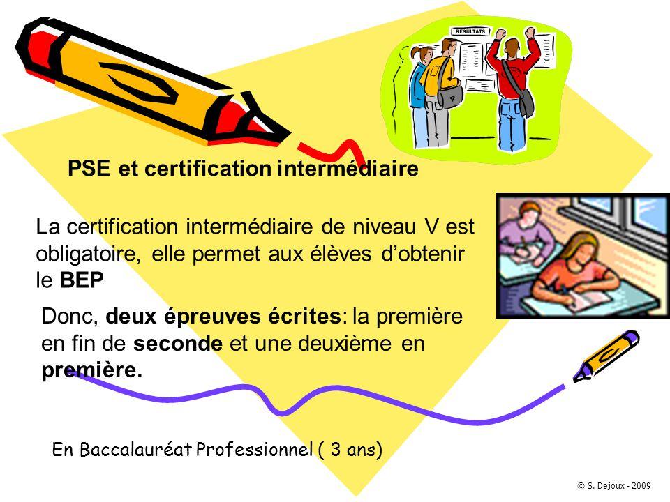 PSE et certification intermédiaire