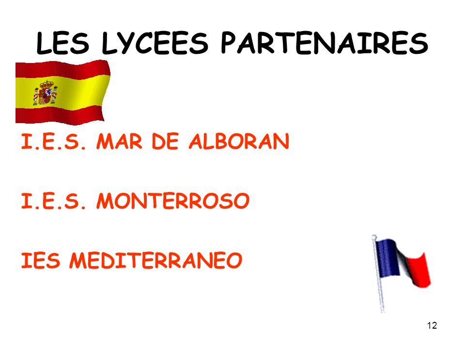 LES LYCEES PARTENAIRES