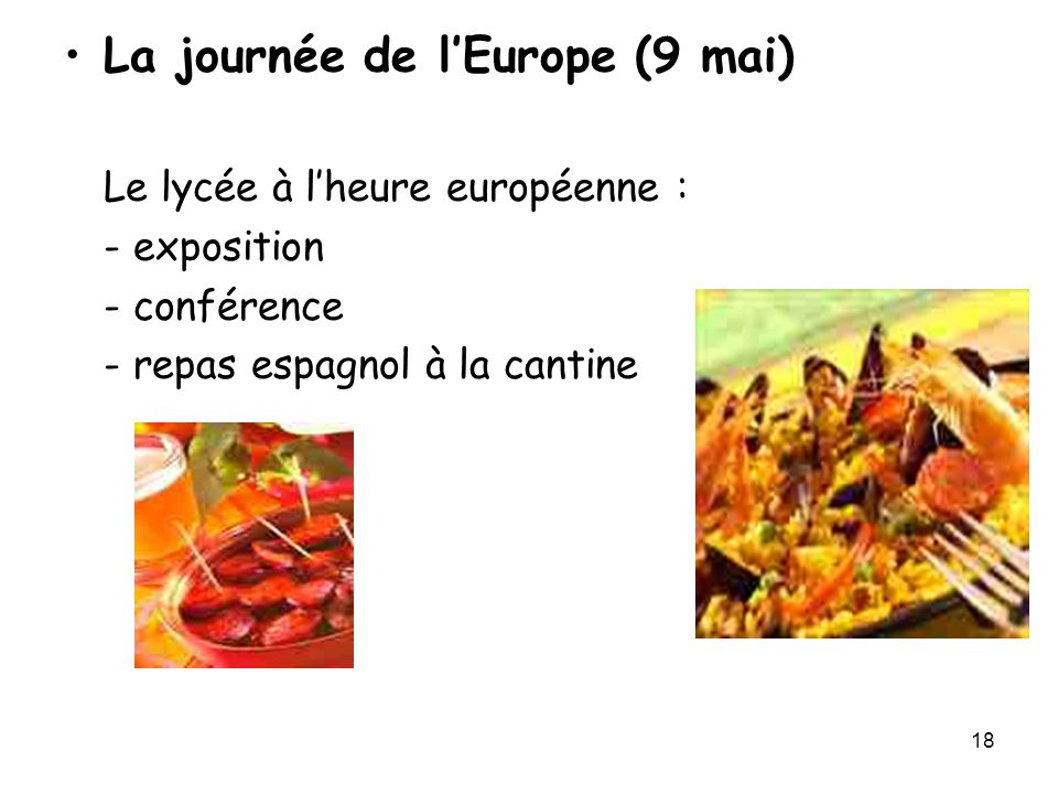 La journée de l'Europe (9 mai)