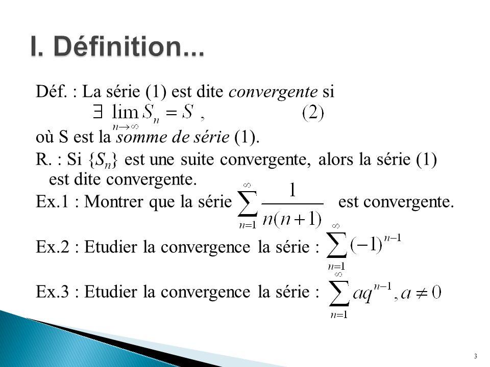 I. Définition...