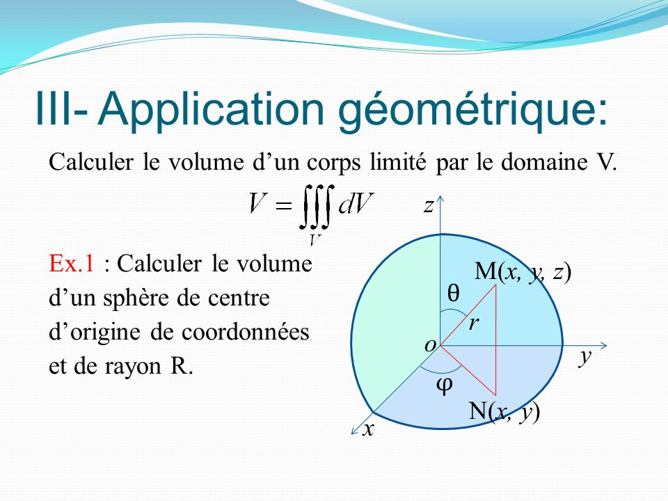 III- Application géométrique:
