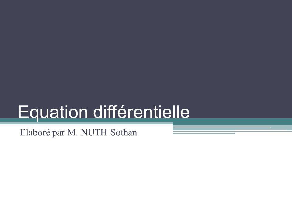 Equation différentielle