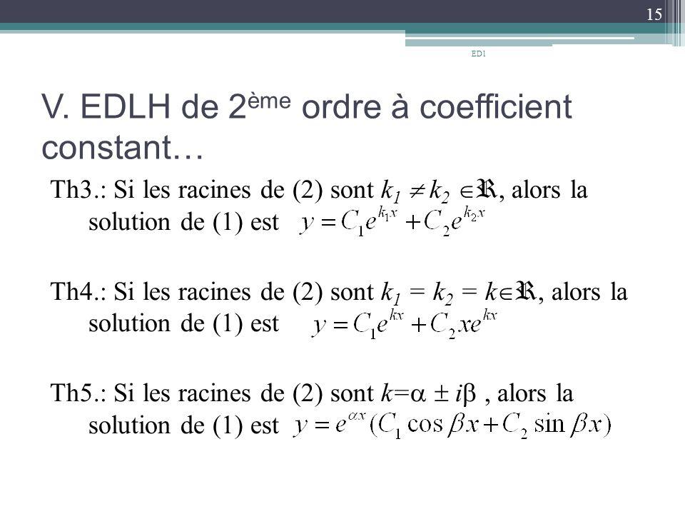 V. EDLH de 2ème ordre à coefficient constant…