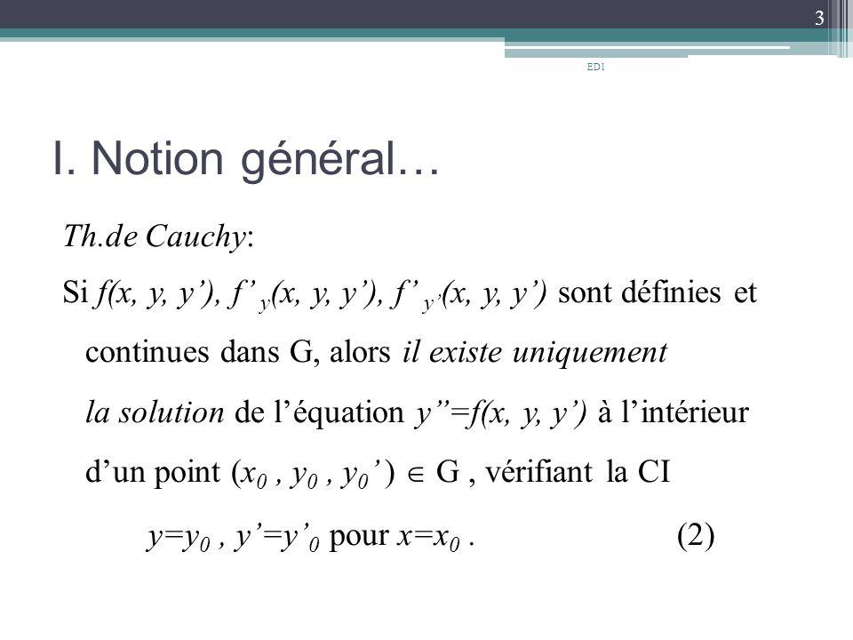 ED1 I. Notion général…