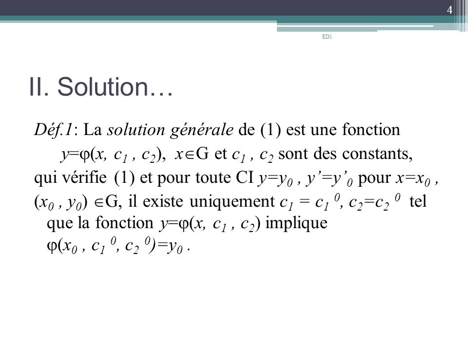 ED1 II. Solution…