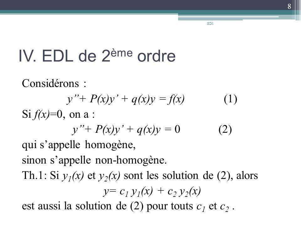 ED1 IV. EDL de 2ème ordre.
