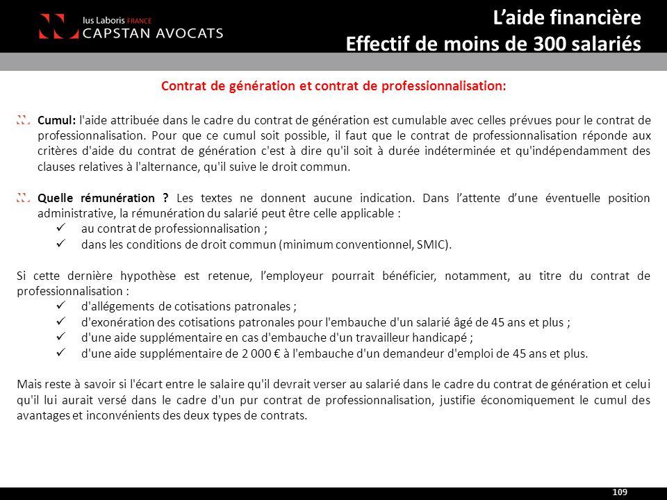 Contrat de génération et contrat de professionnalisation: