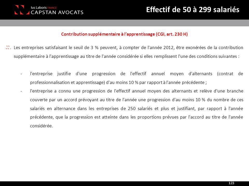 Contribution supplémentaire à l'apprentissage (CGI, art. 230 H)