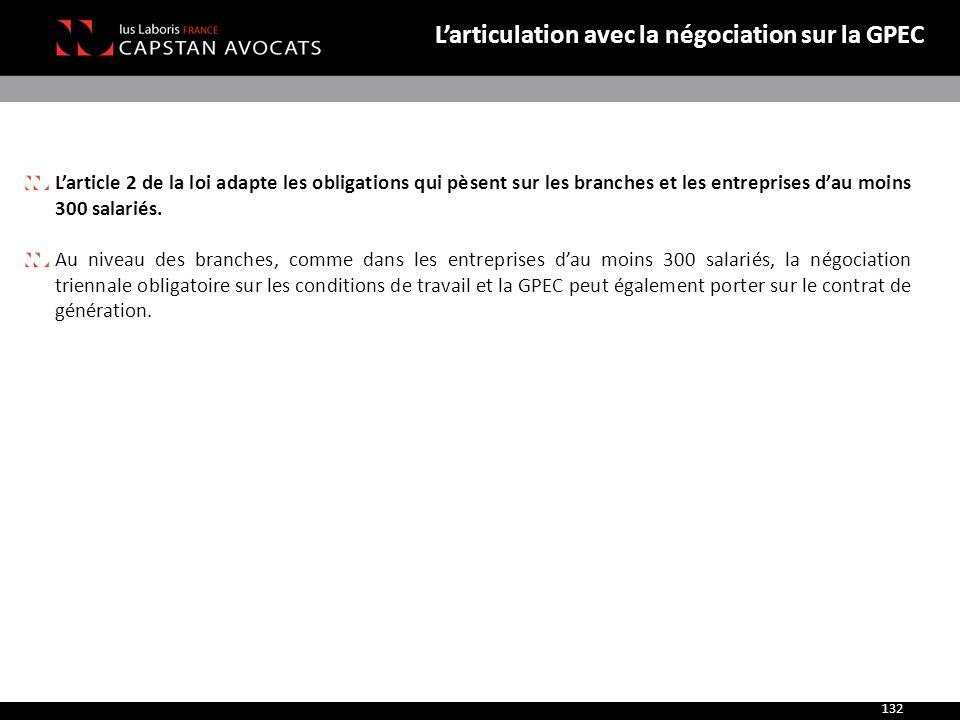 L'articulation avec la négociation sur la GPEC