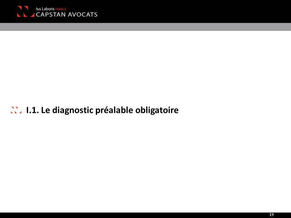 I.1. Le diagnostic préalable obligatoire