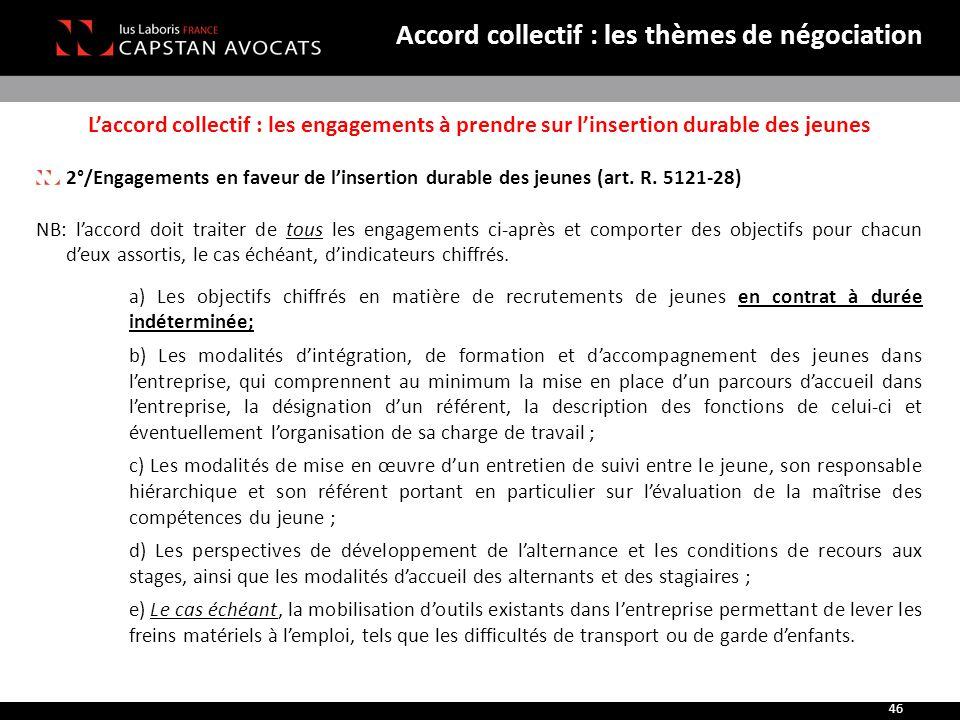Accord collectif : les thèmes de négociation