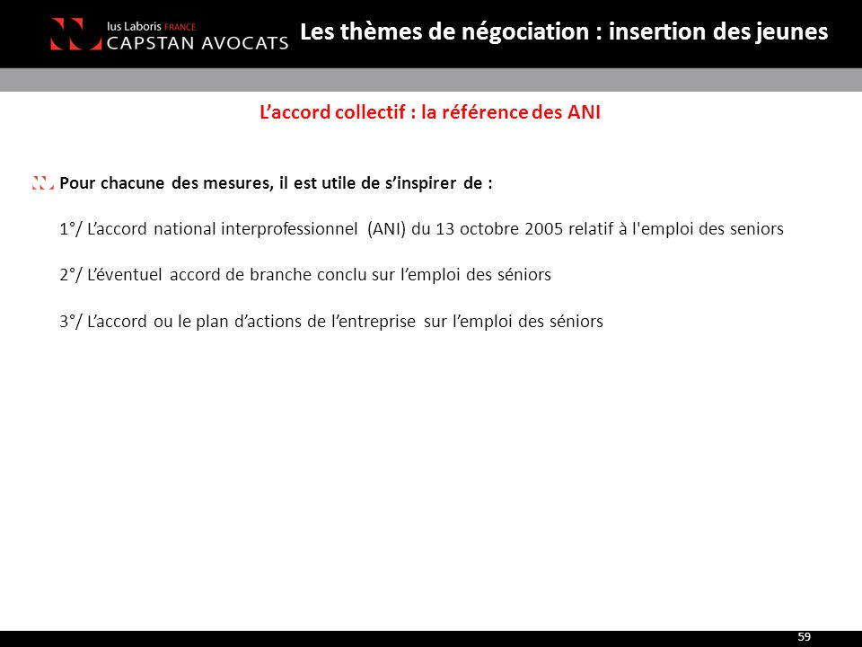 L'accord collectif : la référence des ANI