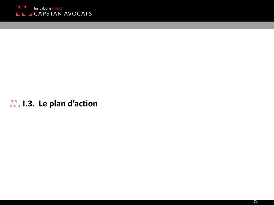 I.3. Le plan d'action