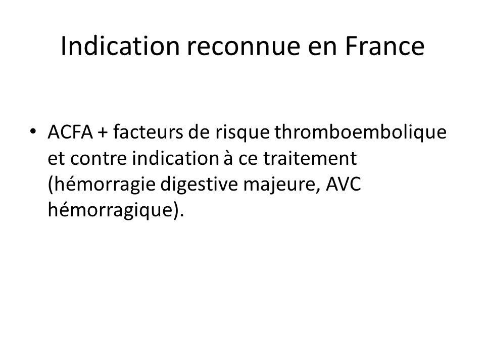 Indication reconnue en France