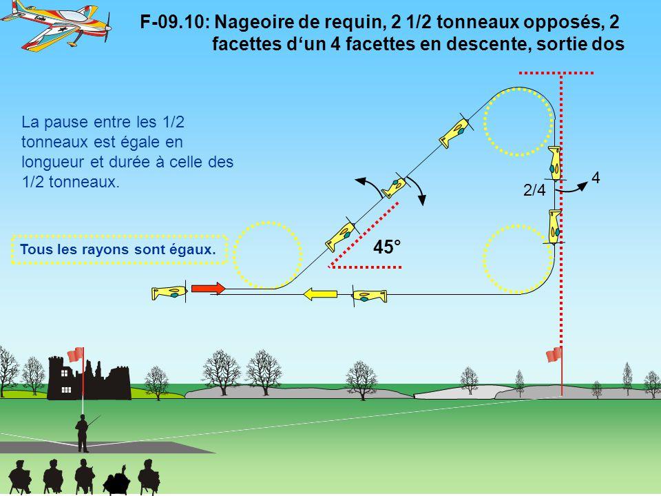 F-09. 10: Nageoire de requin, 2 1/2 tonneaux opposés, 2