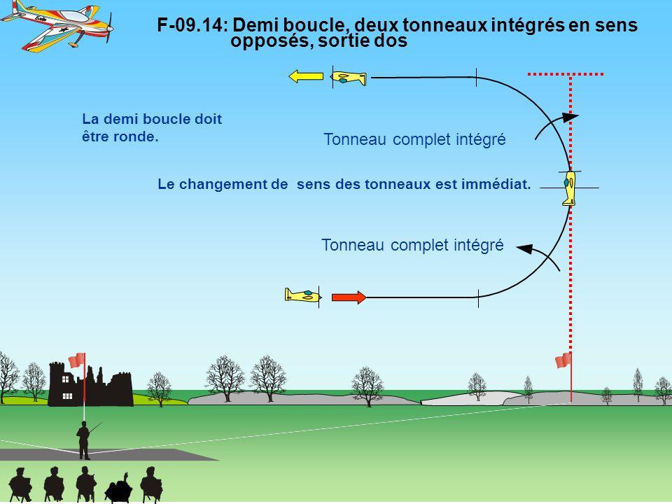 F-09. 14: Demi boucle, deux tonneaux intégrés en sens