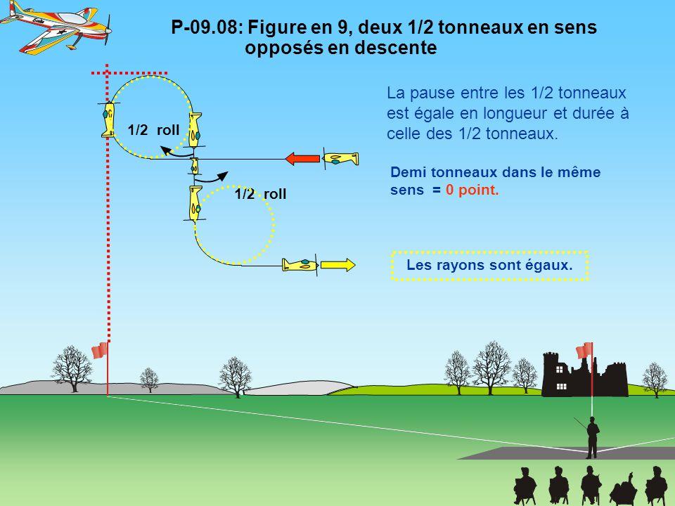 P-09.08: Figure en 9, deux 1/2 tonneaux en sens opposés en descente
